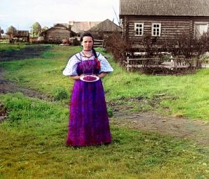 Sergei Prokudin girl with strawberries